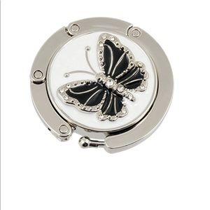 Other - Folding butterfly accent hook handbag table hanger
